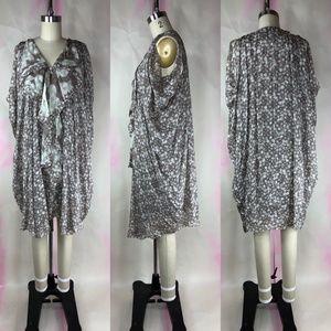 3.1 Phillip Lim Silk Zip Front Ruffled Mini Dress
